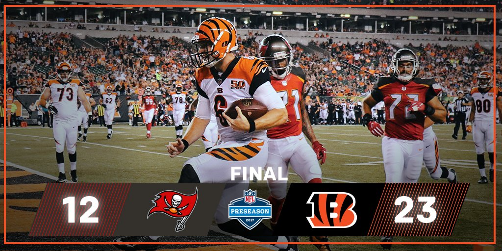 FINAL: @Bengals get the home W!  #TBvsCIN https://t.co/GsSdHj8lsn