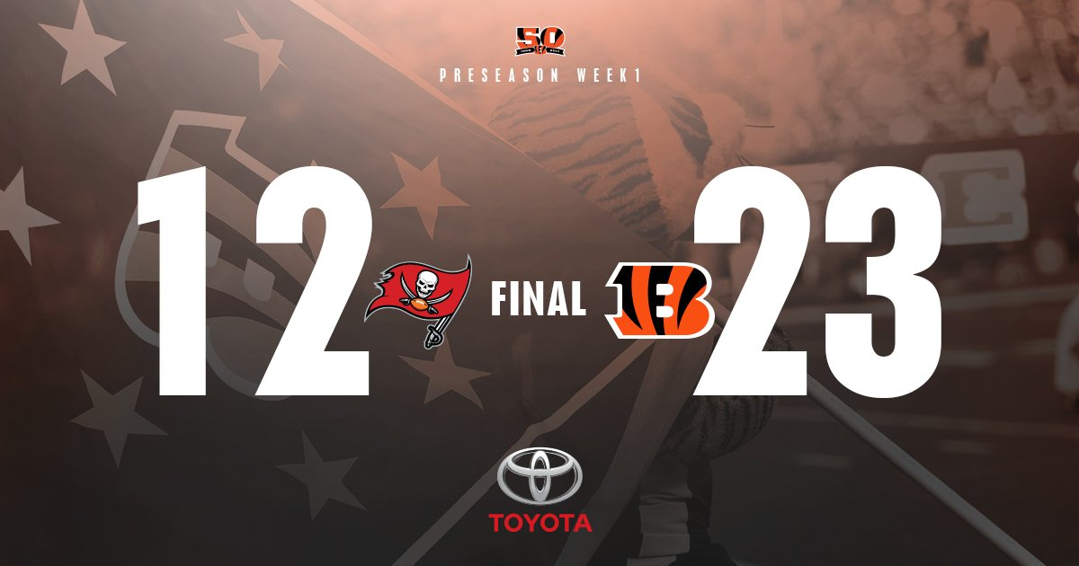 FINAL. #TBvsCIN      The #Bengals go 2-3 in the @Toyota Red Zone.      Game Recap:  https://t.co/Z6w3F3Uhix https://t.co/s815aS38JQ