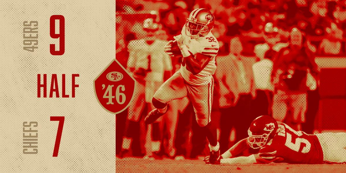 At the half of #SFvsKC https://t.co/DsFs17gJgL