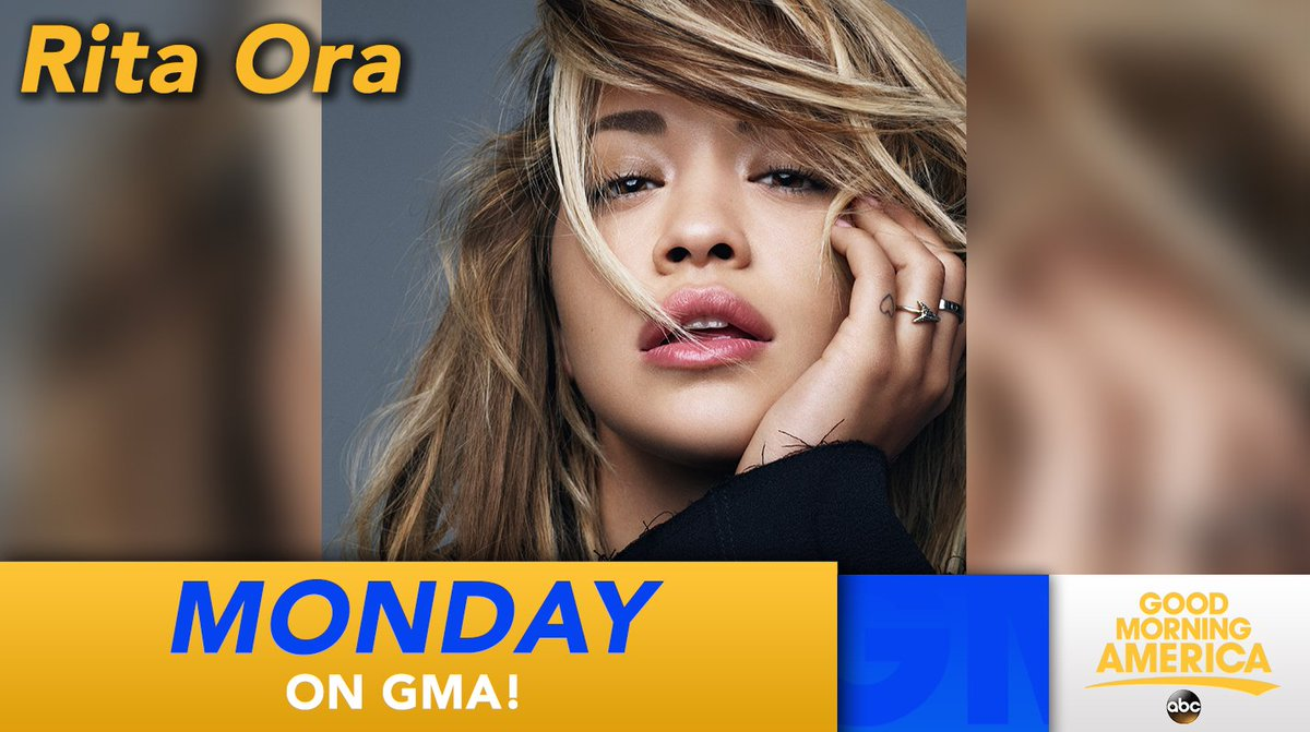 RT @GMA: MONDAY: @RitaOra performs LIVE in Times Square! https://t.co/kVuioQPj6t