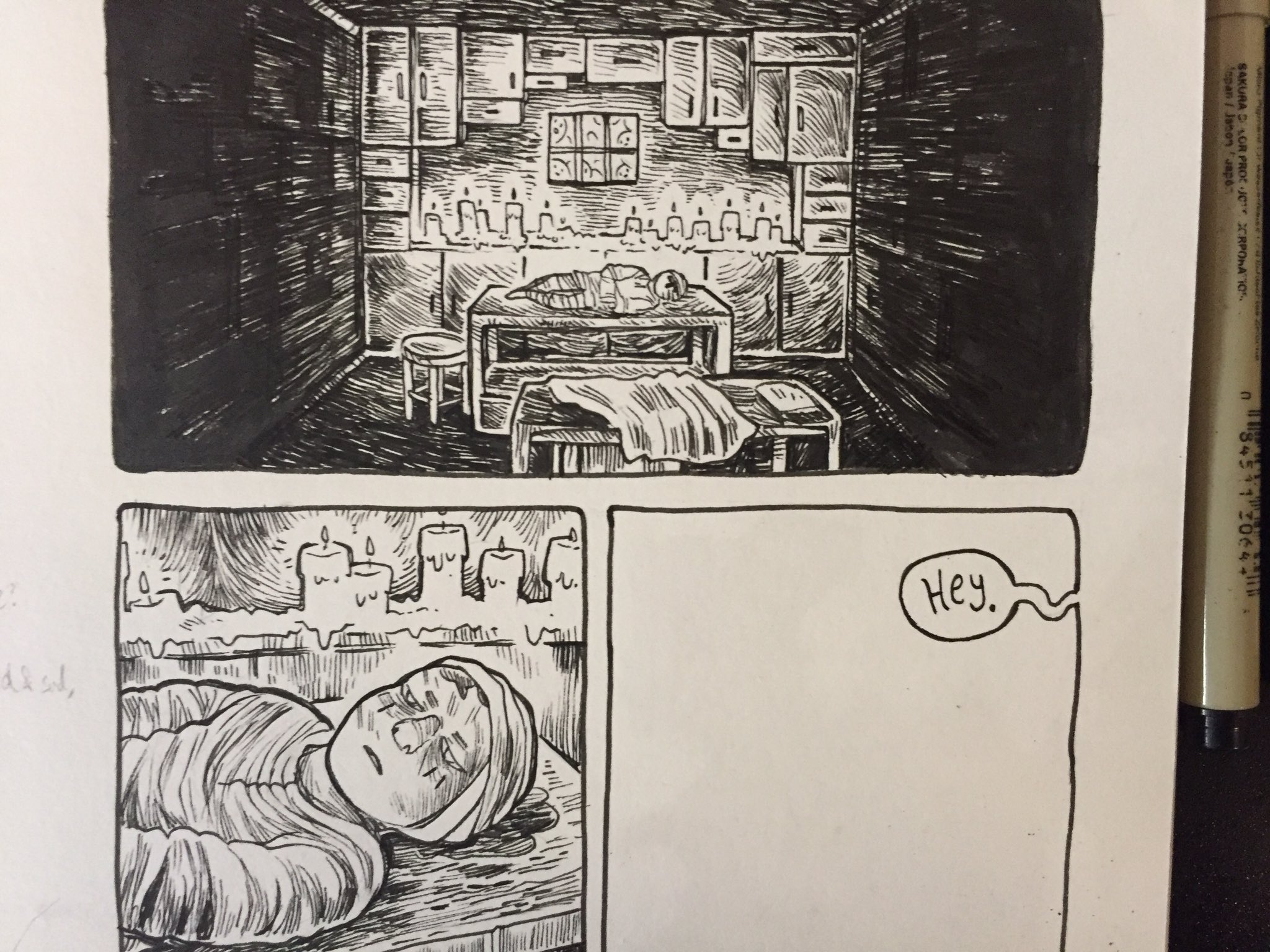 Next: @mariacfrantz inks-in-progress for her first graphic novel! https://t.co/6befQ2irdF