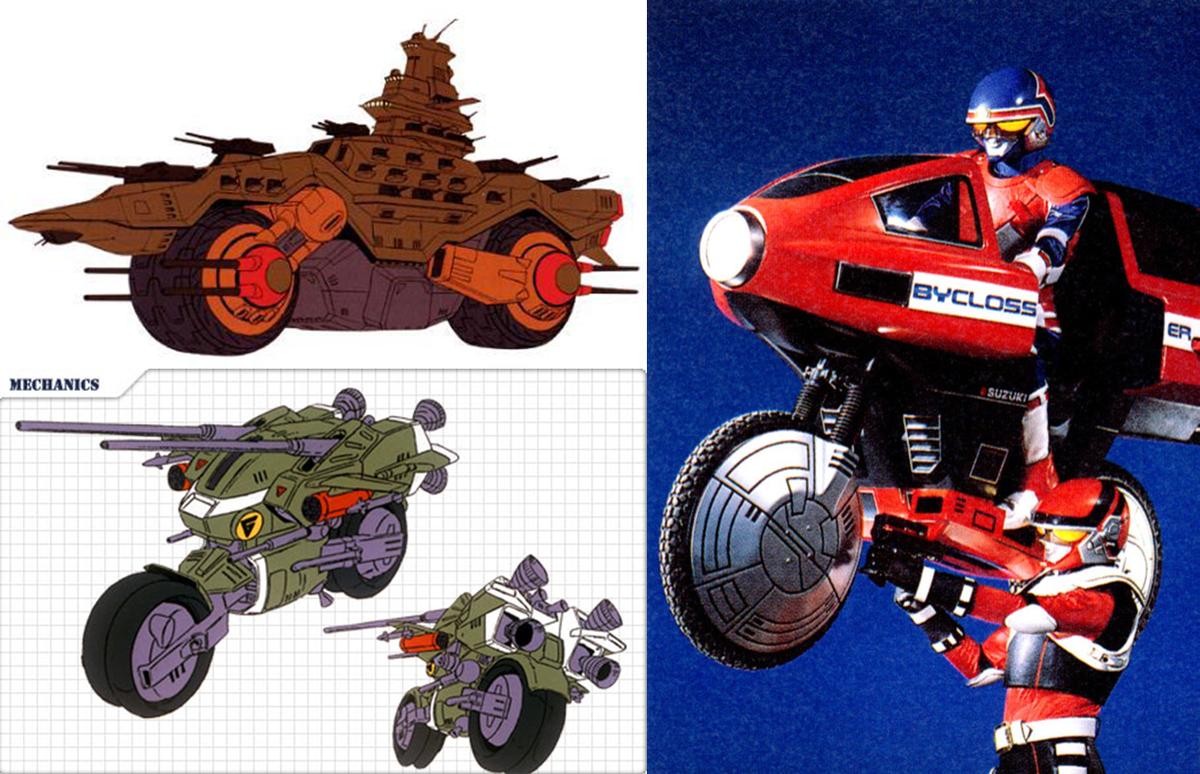 長年さっぱりわかんなかったVガンダム(93)の「バイク戦艦」について、同じくバンダイ提供のドラグナー(87)のガンドーラ