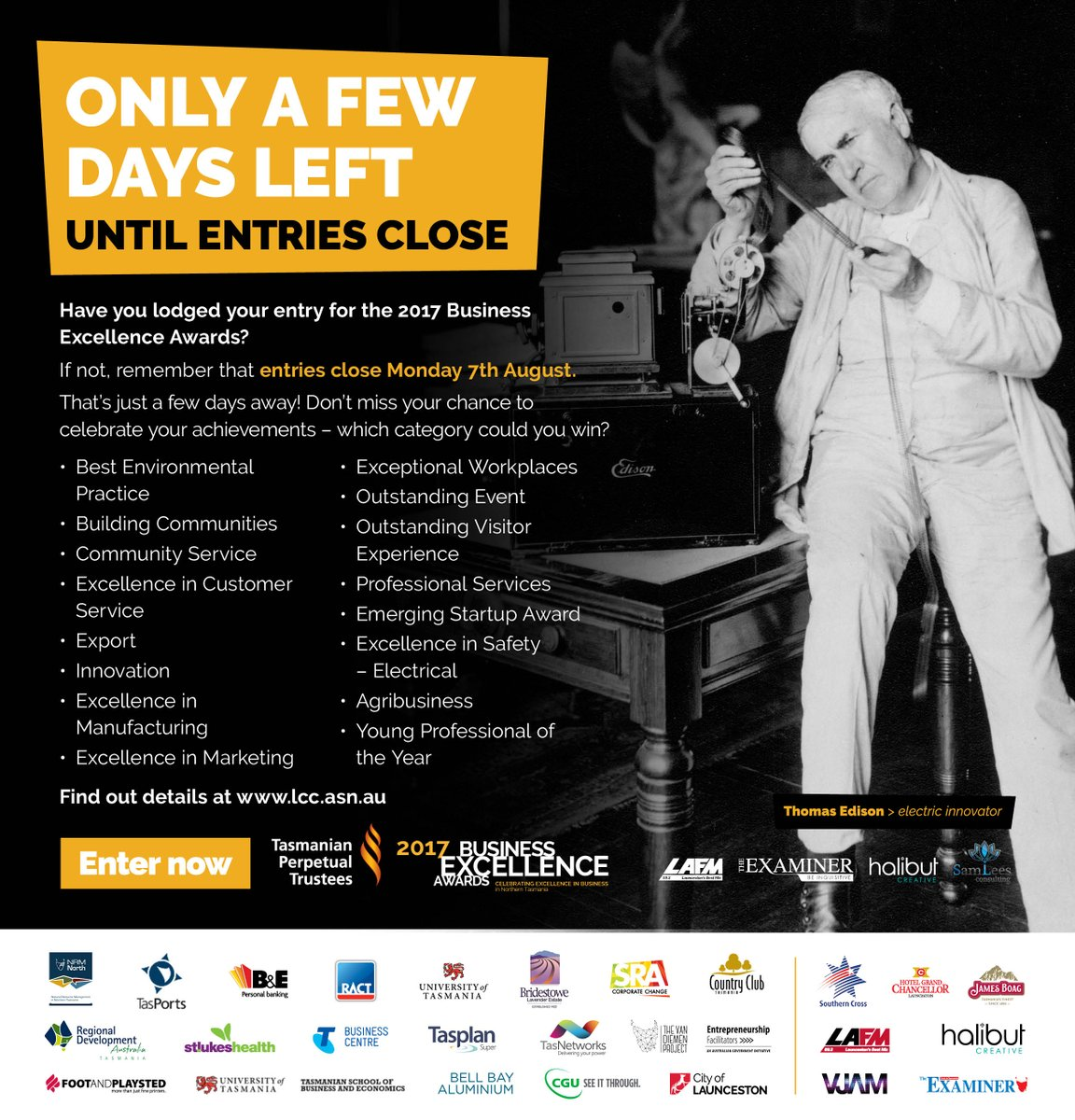 Last chance to enter the Agribusiness category in...