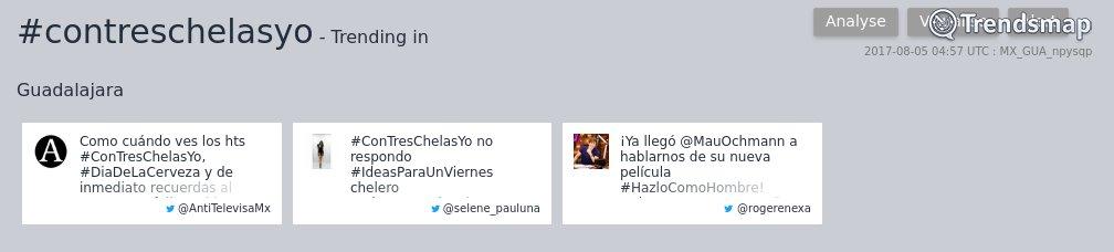 #contreschelasyo es ahora una tendencia en #Guadalajara  https://t.co/gLrk6CQznt https://t.co/vyz4RtHISq