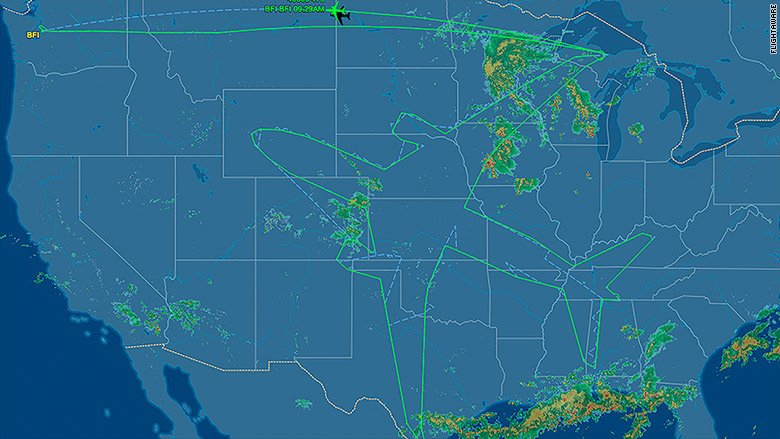 With 18 hours to kill, Boeing spent last night drawing an airplane on the sky