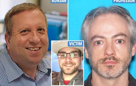 Oxford bursar and US prof suspected of 'stabbing and mutilating hair stylist in Chicago apartment' surrender to US police after nine-day manhunt