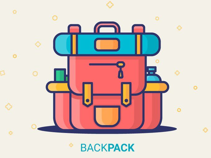 BackPack Illustration   Icons by KISDesigners freebie