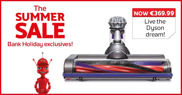 Live the Dyson dream and bank yourself a bargain with V7 Animal, now only €369.99! Shop Now https://t.co/Hjljlhmkc2 https://t.co/eI4q1C5dNc