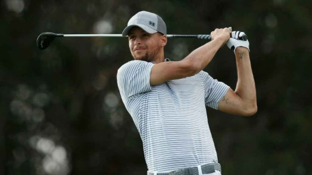 NBA star Curry relishes playing golf on big stage