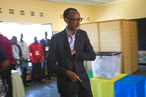 The Latest: US 'disturbed by irregularities' in Rwanda vote