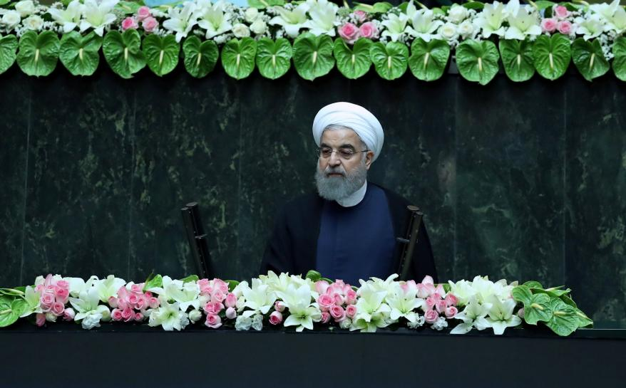 Iran's Rouhani, embarking on second term, accuses Trump over nuclear deal