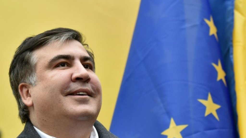 Georgia's stateless ex-leader Saakashvili back in Europe