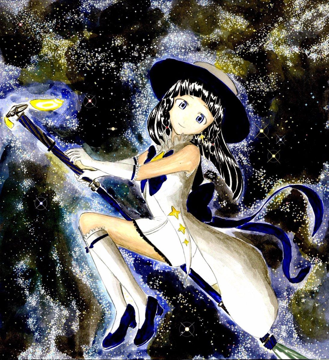 星を加えました。沢山のリツイート、いいねありがとうございます!!土星がどこかにあります。探してね。#プレアデス#いつき生