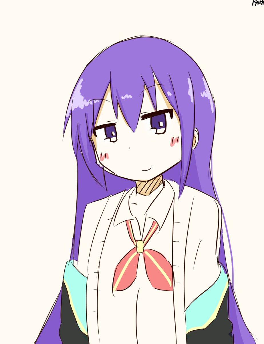 画力不足で色んなキャラに見える> GJ部からの「皇紫音」をお願いします  #odaibako