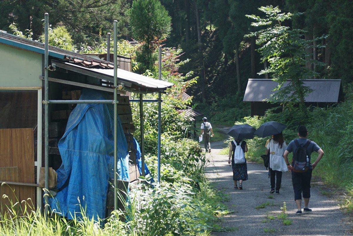 細川での徒歩連絡。迷家感あるな、と思った。