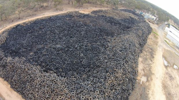 Internet marketing company in Panama owns a dump of 9 million tyres in Victoria