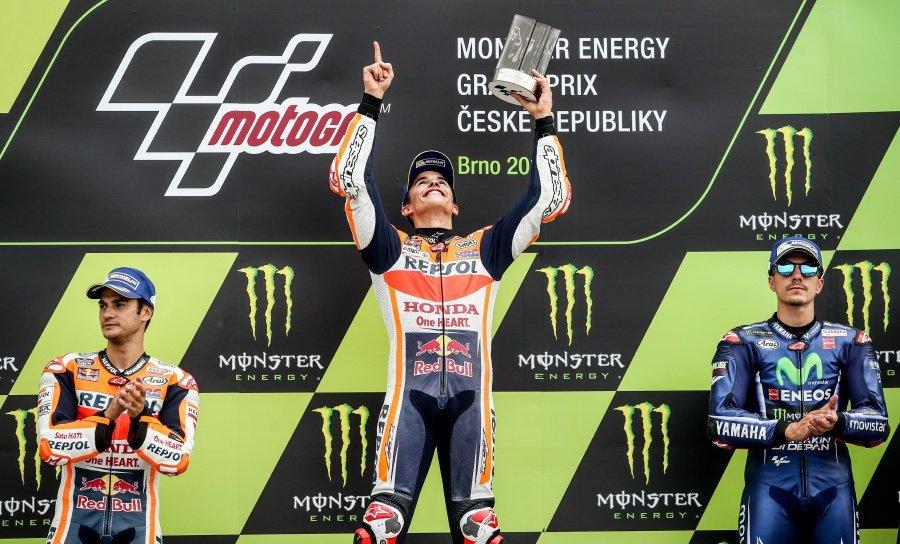 Marquez wins Czech GP, extends lead