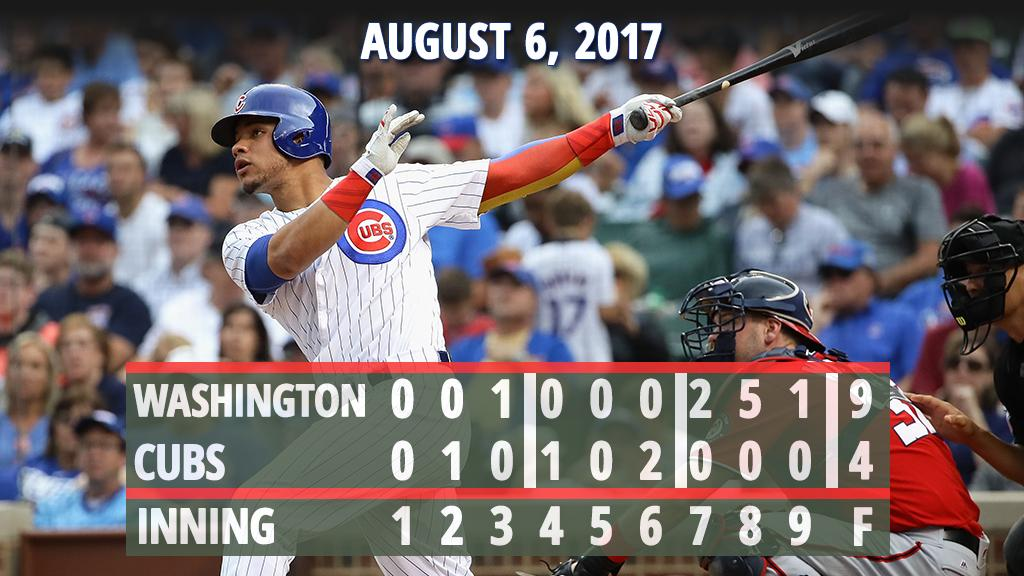 #Cubs drop two out of three to the #Nationals. https://t.co/WAvBhabYma https://t.co/eV0UJNIwQb