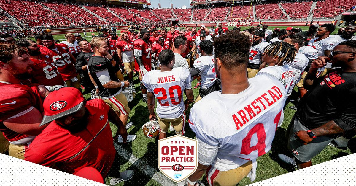 Take a look back at yesterday's Open Practice in front of 25K! #49ersCamp  https://t.co/2ESNHfZK7f https://t.co/hKv9Fq57tp