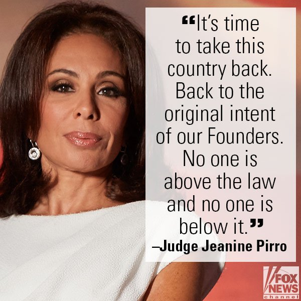 .@JudgeJeanine: FBI Told 'Calculated, Knowing and Intentional' Lie