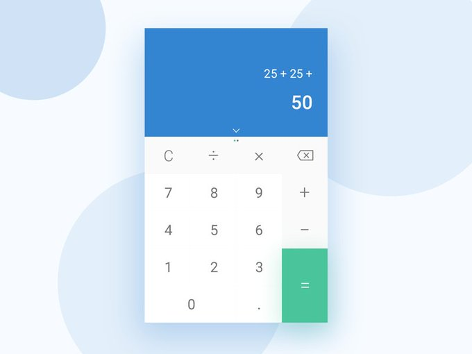 Calculator App   UI kit by yesIam_zahir freebie