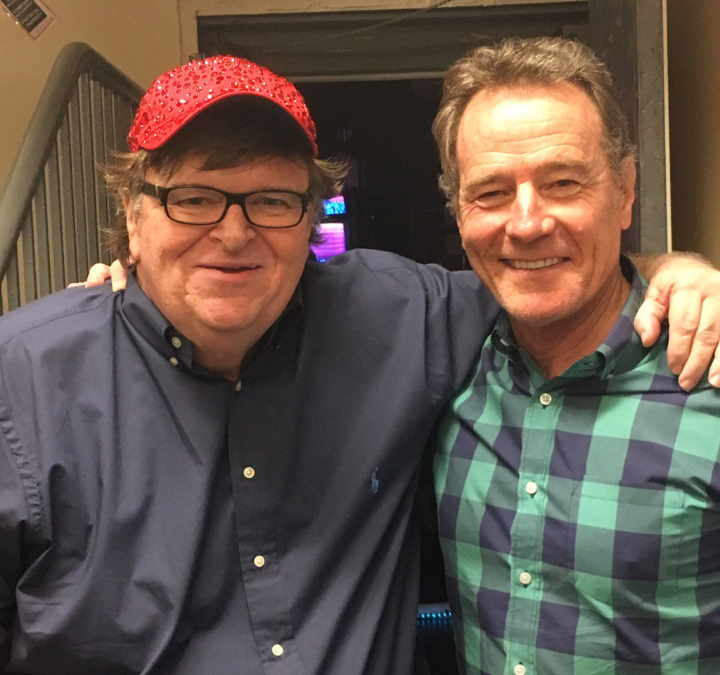 The surprise guest in my B'way show last night: Bryan Cranston! Wow. We cooked up some meth in our tightie whities! https://t.co/bAP5EEvMp4