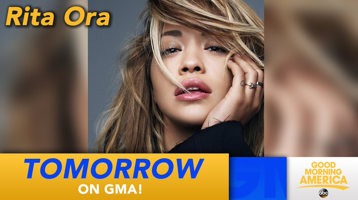 RT @GMA: TOMORROW: @RitaOra performs LIVE in Times Square! https://t.co/fuReBtW7T5