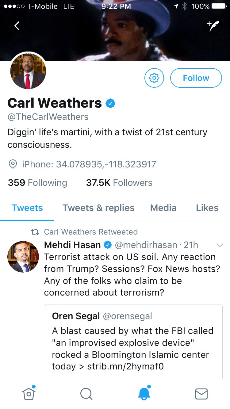 I can die a happy man, as I just got retweeted by Apollo Creed himself, @TheCarlWeathers  #livinginamerica #rocky4 https://t.co/Hagt4GMbLj