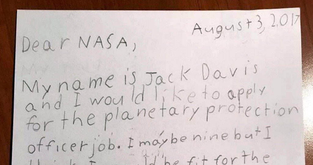 "9-year-old ""Guardian of the Galaxy"" applies to be NASA's planetary protection officer"