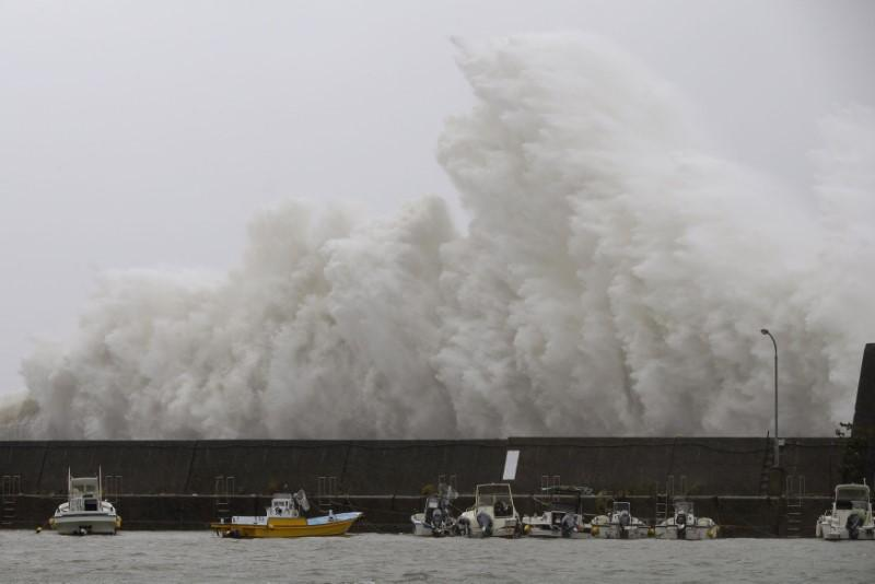 Weakening Typhoon Noru makes landfall, batters central Japan with rain