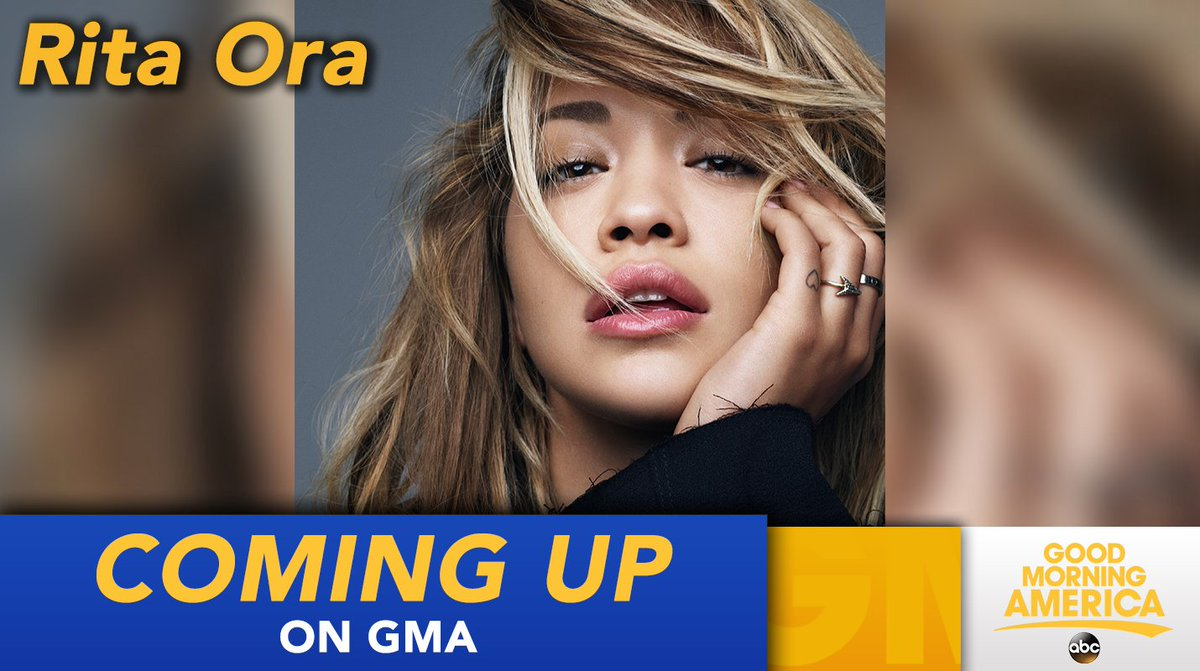 RT @GMA: COMING UP ON @GMA: @RitaOra performs LIVE in Times Square! https://t.co/qrDTMlBu0g