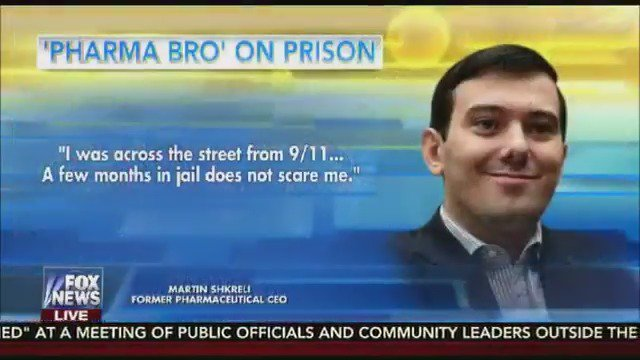 "Martin Shkreli claims he isn't afraid of jail because ""I saw 9/11"" https://t.co/9DVAKfHNo6"
