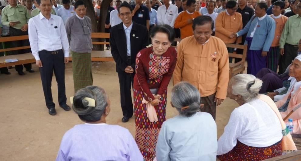 Suu Kyi touts peace efforts in visit to Myanmar heartland