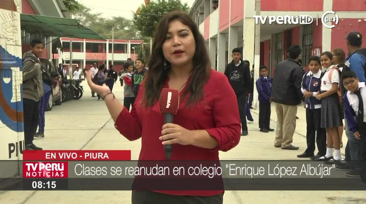 """En vivo  #piura: clases se reanudan en colegio """"enrique lópez ..."""