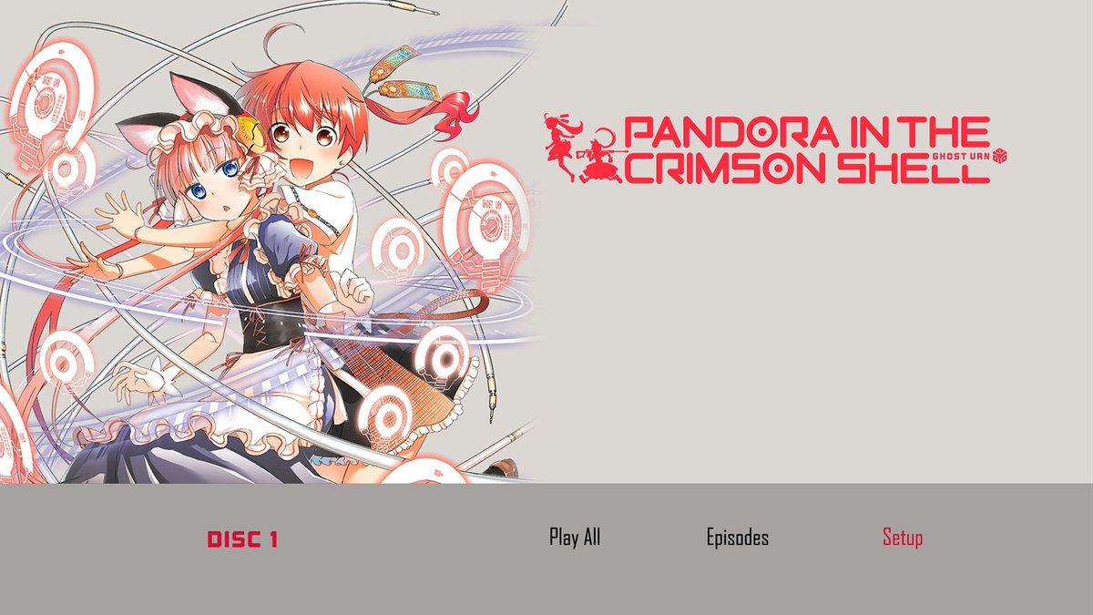 ・北米版『紅殻のパンドラ』ブルーレイ+DVDディスク枚数:2+2収録内容:全12話+特典映像音声:日本語/英語字幕:英語