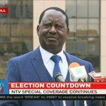Raila Odinga raises concerns a few hours to #ElectionsKE