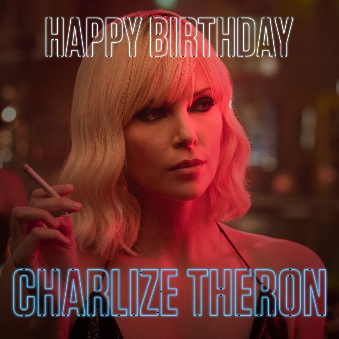 test Twitter Media - RT @atomic_blonde: Happy birthday to the #AtomicBlonde herself, @CharlizeAfrica. https://t.co/dSBsBL4T8m