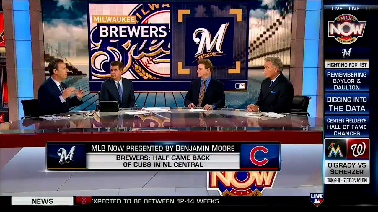Just a 1/2 game back, could the @Brewers make some big moves this August? #MLBNow https://t.co/YHd8Epq0cC