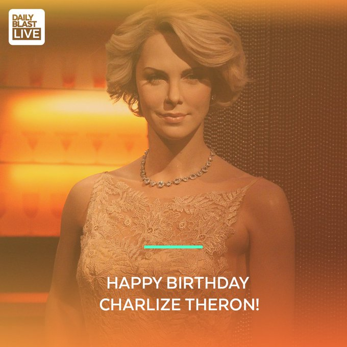 Move over Bond for the Atomic Blonde!   Happy birthday Charlize Theron!