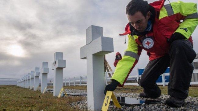 Acabó la labor de exhumación de soldados argentinos sin identificar en Malvinas