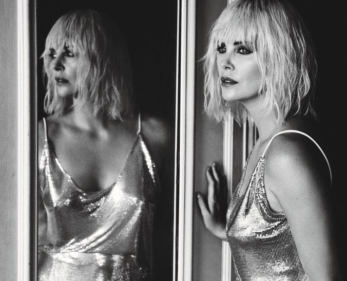 Happy birthday to this badass lady right here - charlize theron
