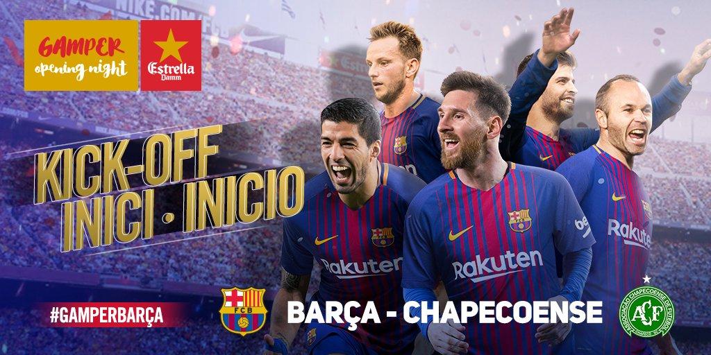RT @FCBarcelona: ???? The game is under way at Camp Nou! ???????? Som-hi Barça! ???? #BarçaChape #GamperBarça https://t.co/I5LUWh7xm2