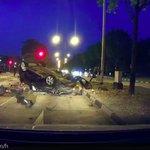 Motorcyclist dies, 4 hospitalised after car flips over divider on Woodlands Ave 12; driver arrested