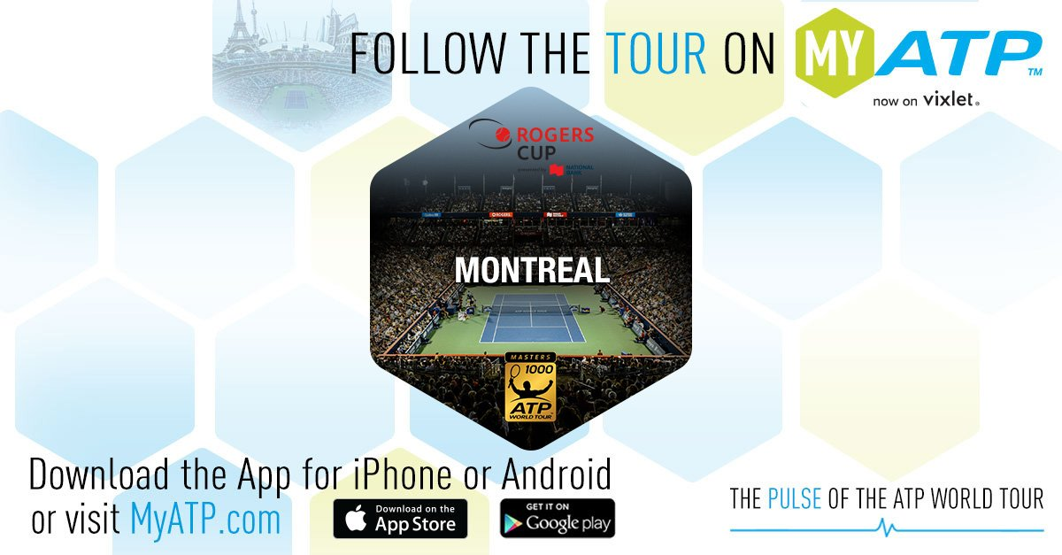 Follow the action on and off court from the #CoupeRogers on MyATP! Log in or sign up now: https://t.co/lB0lhOCQ4W https://t.co/KJXs6vZssm