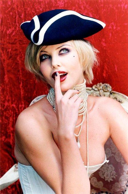 Happy Birthday Charlize Theron  photographed by Ellen von Unwerth, 1999