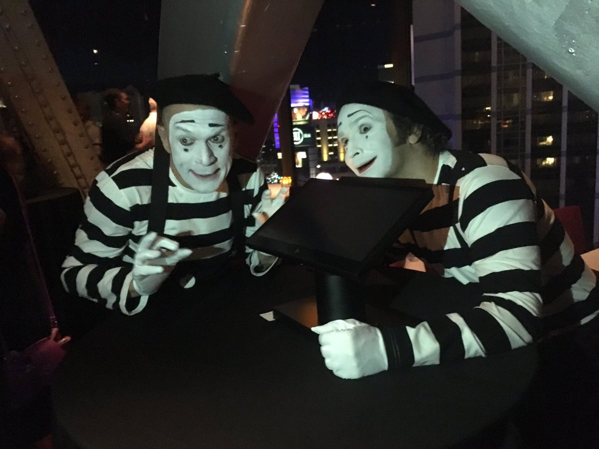 test Twitter Media - Loving the mime demonstrations at the @HP  party tonight! #retailnow2017 https://t.co/ycQPZvzwtW