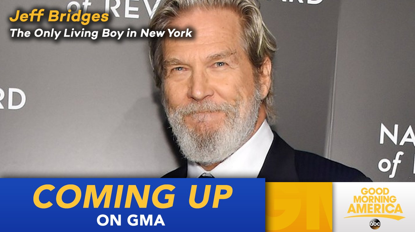 COMING UP ON @GMA: The one and only Jeff Bridges is here LIVE this morning! https://t.co/L33n52Xp99