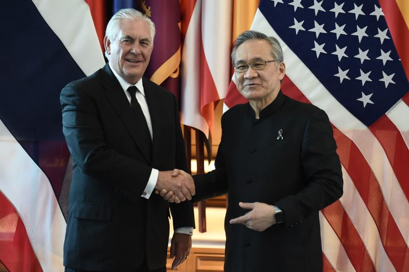 US Secretary of State Tillerson makes first visit to Thailand