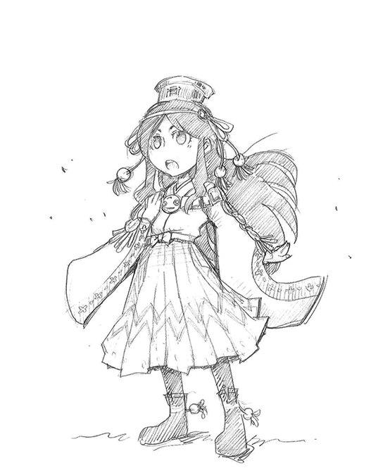 劇アニメの絵コンテを描くときに用紙の余白に描いていたらくがきシーン:ユウアム編「ダーは・・・」※不思議な力はないらしいで