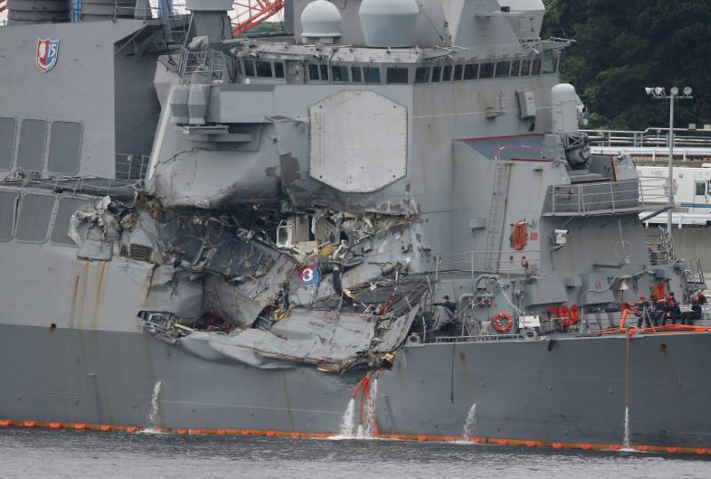 U.S. to haul stricken destroyer from Japan back to U.S. for repairs